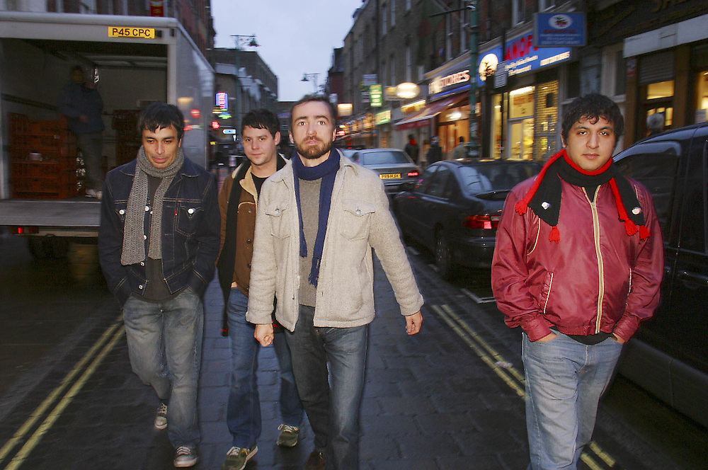 """Photo (c) Mark Chilvers/Insight.date: 20th january 2004..American Indie Band """"The Shins"""" photographed on Brick Lane, East London"""