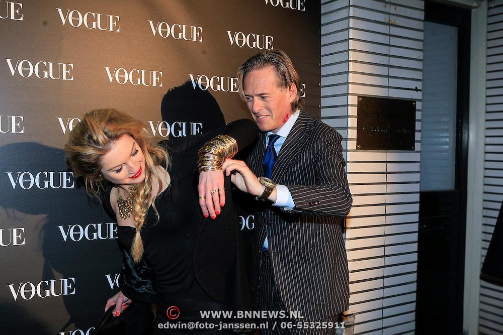 NLD/Amsterdam/20130314 - 1 jarig bestaan magazine Voque Nederland , Lauren Verster en partner Jort Kelder