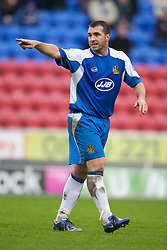 Wigan, England - Sunday, January 21, 2007: Wigan Athletic's David Unsworth in action against Everton during the Premier League match at the JJB Stadium. (Pic by David Rawcliffe/Propaganda)