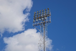 WREXHAM, WALES - Friday, September 6, 2019: A floodlight station during the UEFA Under-21 Championship Italy 2019 Qualifying Group 9 match between Wales and Belgium at the Racecourse Ground. (Pic by Laura Malkin/Propaganda)