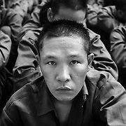 Recovering drug users at Drug Education Center Number 6 in Soc Son district some 60 kilometers west of Hanoi, Vietnam, 20 April 2004. Vietnam has an esitmated 200 000 people living with HIV, frequently spread by the use of intravenous drugs.