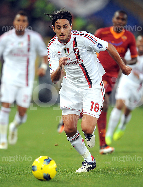 FUSSBALL INTERNATIONAL   SERIE A   SAISON 2011/2012    AS Rom - AC Mailand 29.10.2011 Alberto Aquilani (AC Mailand)