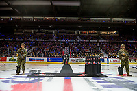 REGINA, SK - MAY 18: Opening ceremonies at the Brandt Centre on May 18, 2018 in Regina, Canada. (Photo by Marissa Baecker/Shoot the Breeze)