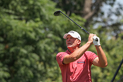 May 26, 2018 - Fort Worth, TX, U.S. - FORT WORTH, TX - MAY 26: Steve Stricker (USA) watches his shot from the 9th tee during the third round of the Fort Worth Invitational on May 26, 2018 at Colonial Country Club in Fort Worth, TX. (Photo by George Walker/Icon Sportswire) (Credit Image: © George Walker/Icon SMI via ZUMA Press)
