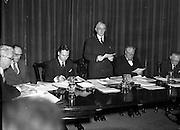 16/12/1959<br /> 12/16/1959<br /> 16 December 1959<br /> <br /> Mr L.J. Heelan;Dr J.P. Beddy Chairman(speaking); Mr. M.W. O'Reilly and Mr J. Griffen