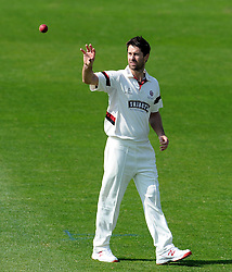 Somerset's Tim Groenewald. - Photo mandatory by-line: Harry Trump/JMP - Mobile: 07966 386802 - 08/04/15 - SPORT - CRICKET - Pre Season - Somerset v Lancashire - Day 2 - The County Ground, Taunton, England.