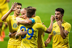 Players of NK Domzale celebrate during 2nd Leg Football match between NK Domzale and FC Balzan  in First Qualifying match of UEFA Europa League 2019/2020, on July 18, 2019 in Sports park Domzale, Domzale, Slovenia. Photo by Ziga Zupan / Sportida