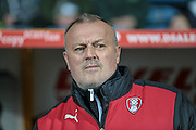 Neil Redfearn during the Sky Bet Championship match between Huddersfield Town and Rotherham United at the John Smiths Stadium, Huddersfield, England on 15 December 2015. Photo by Mark P Doherty.