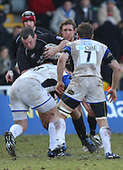 Newcastle - Sunday, March 7th, 2010: Micky Young of Newcastle Falcons and David Wilson of Bath Rugby during the Guinness Premiership match at Newcastle. (Pic by Steven Hadlow/Focus Images)