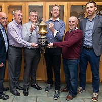 Peter McLoone, Sean Chambers, Vice-Chairman, Joe Morrissey, Joe Kelly, Secretary, Murach O'Donoghue with Clare Captain, Gary Brennan