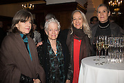 ANNI RATTI; JOAN JONAS; JUDITH GODDARD; ROSE ENGLISH, Whitechapel Gallery Art Icon Gala, supported by the Swarovski Foundation, Honoring the lifetime achievement of Joan Jonas. Christ Church Spitafields. London.