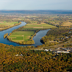 Farms in Hadley, Massachusetts across the Connecticut River from Northampton, Massachusetts.
