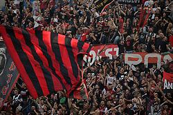 October 7, 2018 - Milan, Milan, Italy - fans show their support AC Milan during the serie A match between AC Milan and Chievo Verona at Stadio Giuseppe Meazza on October 7, 2018 in Milan, Italy. (Credit Image: © Giuseppe Cottini/NurPhoto/ZUMA Press)
