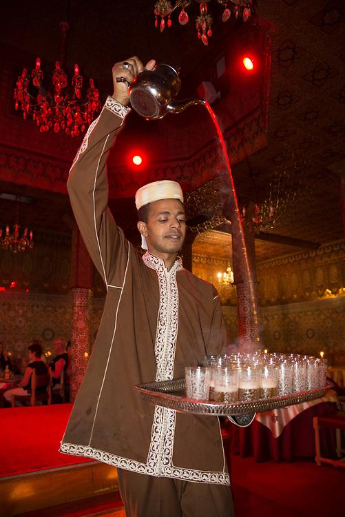 Africa, African, Northern Africa, Maghreb, Morocco, Marrakesh, Medina, restaurant teaceremony