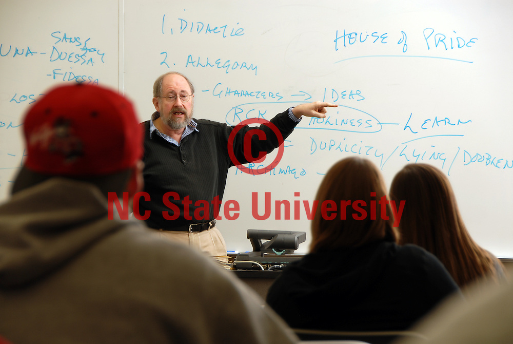 CHASS english lit professor John Wall leads a class discussion on their latest classic read. PHOTO BY ROGER WINSTEAD