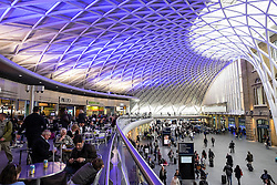 Modern new architecture of Western Concourse at King's Cross railway station in London United Kingdom