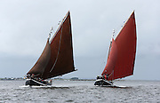 18/08/2013 An Capall and An Tonai Galway Hookers racing during  the annual Crinniu na mBad (The Gathering of the boats) Festival in the picturesque village of Kinvara Co. Galway. Picture:Andrew Downes