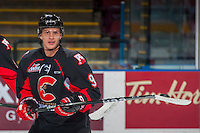 KELOWNA, CANADA - FEBRUARY 18: Brad Morrison #9 of the Prince George Cougars warms up against the Kelowna Rockets on February 18, 2017 at Prospera Place in Kelowna, British Columbia, Canada.  (Photo by Marissa Baecker/Shoot the Breeze)  *** Local Caption ***