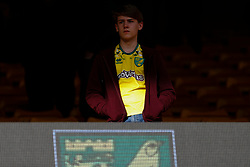 A dejected Norwich City fan - Mandatory by-line: Phil Chaplin/JMP - 05/10/2019 - FOOTBALL - Carrow Road - Norwich, England - Norwich City v Aston Villa - Premier League