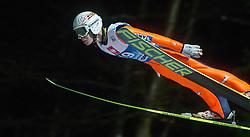 05.01.2014, Paul Ausserleitner Schanze, Bischofshofen, AUT, FIS Ski Sprung Weltcup, 62. Vierschanzentournee, Qualifikation, im Bild Stefan Kraft (AUT) // Stefan Kraft (AUT) during qualification Jump of 62nd Four Hills Tournament of FIS Ski Jumping World Cup at the Paul Ausserleitner Schanze, Bischofshofen, Austria on 2014/01/05. EXPA Pictures © 2014, PhotoCredit: EXPA/ JFK