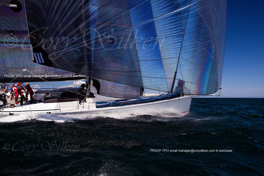Shockwave sailing at the start of the 2012 Newport Bermuda Race.