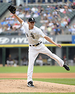 CHICAGO - JUNE 18:  Chris Sale #49 of the Chicago White Sox pitches against the San Francisco Giants on June 18, 2014 at U.S. Cellular Field in Chicago, Illinois.  (Photo by Ron Vesely)