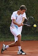 Tennis Profi Peter Heller (GER), Aktion,Einzelbild,.Halbkoerper,Hochformat,