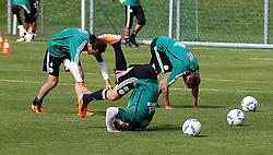 19.07.2011, Bad Kleinkirchheim, AUT, Fussball Trainingscamp VFL Wolfsburg, im Bild Tuncay Sanli und Jan Polak , EXPA Pictures © 2011, PhotoCredit: EXPA/Oskar Hoeher