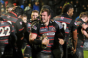 Cameron Fenton scores try during the Guinness Pro 14 2017_18 match between Edinburgh Rugby and Southern Kings at Myreside Stadium, Edinburgh, Scotland on 5 January 2018. Photo by Kevin Murray.