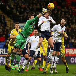 Mark Howard of Bolton Wanderers punches the ball clear from a corner - Mandatory by-line: Matt McNulty/JMP - 28/02/2017 - FOOTBALL - Macron Stadium - Bolton, England - Bolton Wanderers v Bristol Rovers - Sky Bet League One