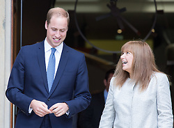 Image ©Licensed to i-Images Picture Agency. 17/07/2014. London, United Kingdom. Prince William, Duke of Cambridge, visits the IWM. Prince William, The Duke of Cambridge leaves the <br /> Imperial War Museums in London  with the Director General Diane Lees after opening its new First World War Galleries in a new summer exhibition. Imperial War Museums. Picture by Daniel Leal-Olivas / i-Images