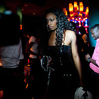 12/06/2012. Senegal, Dakar. Private party in the bar lounge little Buddha to celebrate the beginning of the 10th edition of the Dakar Fashion Week. Designers, models and staff had a dinner and dance together. ©Sylvain Cherkaoui