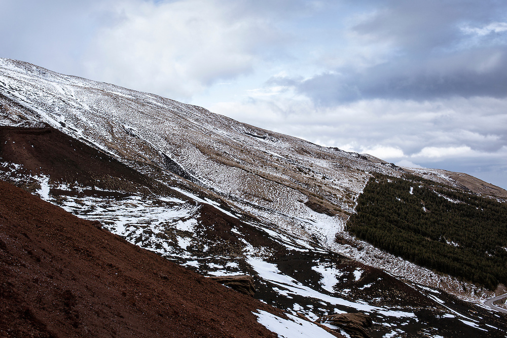 An old lava flow on the Etna South face.