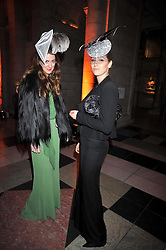 Left to right, MARY FELLOWES and NINA TRYON at Hats - an antology of Stephen Jones held at the V&A, London on 23rd February 2009.