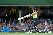 Marcus Stoinis hits out. T20 international, Australia v India. Sydney Cricket Ground, NSW, Australia, 25 November 2018. Copyright Image: David Neilson / www.photosport.nz