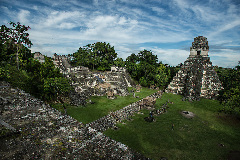 TIKAL NATIONAL PARK,  EL PETÉN - GUATEMALA - NOVEMBER 4, 2015:  The ruins of Tikal, once the heart of the ancient Maya Empire, are located inside the 5.2 million acre reserve here in Guatemala's northern Petén region Maya Biosphere Reserve.  PHOTO: Meridith Kohut for The New York Times