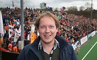 Bloemendaal - Hockey - Hockey.nl verslaggever Reemt Borcherts  na de wedstrijd om de derde plaats  van de EHL tussen de mannen van Bloemendaal en Royal Daring (Belgie) 1-0.  COPYRIGHT KOEN SUYK