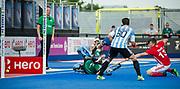 Sam Ward scores England's 2nd goal. England v Argentina - Hockey World League Semi Final, Lee Valley Hockey and Tennis Centre, London, United Kingdom on 18 June 2017. Photo: Simon Parker