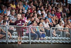 Young fan of NK Triglav during football match between NK Triglav Kranj and NK Maribor, 7th Round of Prva Liga, on 24 August, 2013, in Sportni center Kranj, Slovenia. (Photo by Grega Valancic / Sportida)