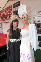 31/07/2014 Repro  Geri Maye and Lisa Fitzpatrick  at the Anthony Ryans Best Dressed Ladies day  at the Galway Races Summer Festival <br />  .Photo:Andrew Downes