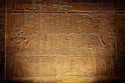 Hieroglyphics, Temple of Isis, Egypt, toned monochrome