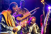Nederland, Nijmegen, 12-5-2008..MusicMeeting.Toumani Diabaté en Bassekou Kouyaté spelen samen tijdens het slotconcert van Ngoni Ba...Foto: Flip Franssen