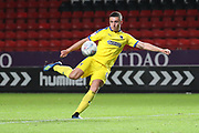 AFC Wimbledon midfielder Anthony Hartigan (8) lining up a volley during the EFL Trophy match between Charlton Athletic and AFC Wimbledon at The Valley, London, England on 4 September 2018.