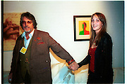 Poppy de villeneuve and  Justin de villeneuve. Baby 2000 preview. Atlantis Gallery, Brick Lane. London. 11/2/99. © Copyright Photograph by Dafydd Jones 66 Stockwell Park Rd. London SW9 0DA Tel 020 7733 0108 www.dafjones.com