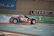 25 feb, formula drift champion ship, yas marina circuit, abu dhabi, chris forsberg is driving his nos energy drink nizzan 350Z