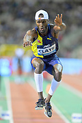 Will Claye (USA) places second in the triple jump at 56-6 (17.22m) during the IAAF Diamond League final at the 44th Memorial Van Damme at King Baudouin Stadium, Friday, Sept. 6, 2019, in Brussels, Belgium. (Jiro Mochizuki/Image of Sport)