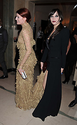 Left to right, FLORENCE WELCH and DAISY LOWE at the Harper's Bazaar Women of the Year Awards 2011 held at Claridge's, Brook Street, London on 7th November 2011.