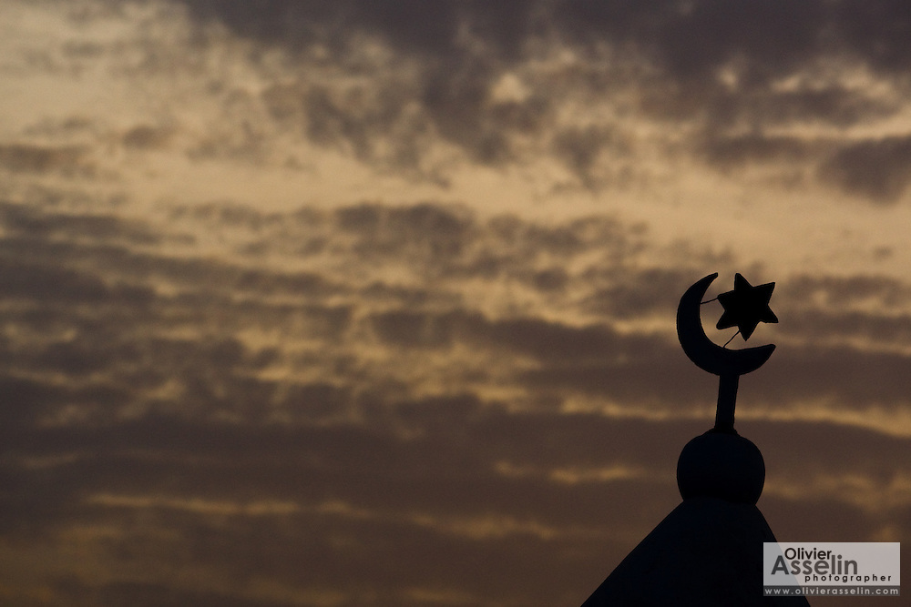 Minaret of a mosque in Tamale, northern Ghana on Tuesday March 24, 2009.