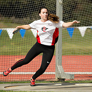 22 April 2016: The San Diego State Aztecs women's track and field team competes in the first day of the Triton Invitational held at UCSD.