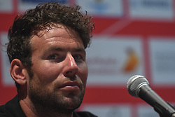 February 23, 2019 - Abu Dhabi, United Arab Emirates - Mark Cavendish of Great Britain and Team Dimension Data, during Top Riders press conference inside the Louvre Abu Dhabi Museum..On Saturday, February 23, 2019, Abu Dhabi, United Arab Emirates. (Credit Image: © Artur Widak/NurPhoto via ZUMA Press)